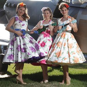 Victorious Florals Vivien of Holloway 1950s Circle Dress
