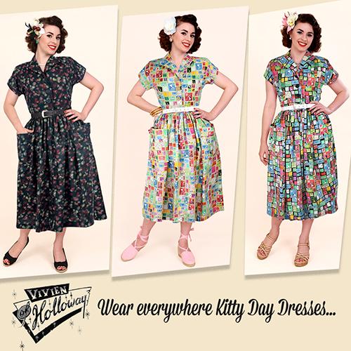 Vivien of Holloway 1950s Kitty Dresses