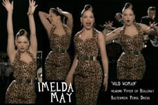 Imelda May wearing Vivien of Holloway 1950s Vintage Style Leopard Dress in her video