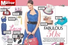 Vivien of Holloway 1950s Vintage Style Dress in the Daily Mirror Newspaper, 18 sept 2010