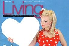 Vivien of Holloway on the cover of Living magazine, february 2010