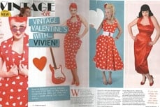Vivien of Holloway in Vintage Life magazine, 6 february 2011