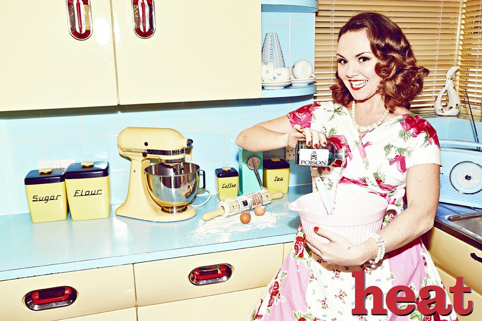 Heat magazine charlie brooks for English rose kitchen units
