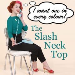 Slash Neck Tops from Vivien of Holloway
