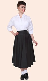 1950s Circle Skirt Grey Flannel