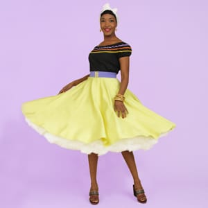 1950s Lemon Circle Skirt from Vivien of Holloway