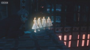 Doctor Who escapes with the help of the Holloway Holograms