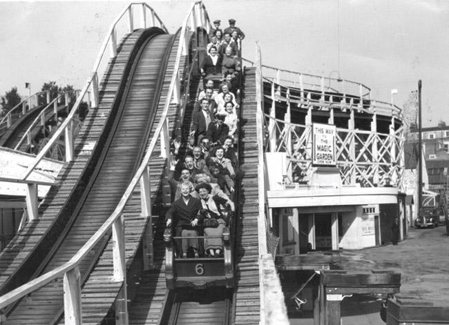Riding the Roller Coaster, Photo Courtesy Dreamland Media Library