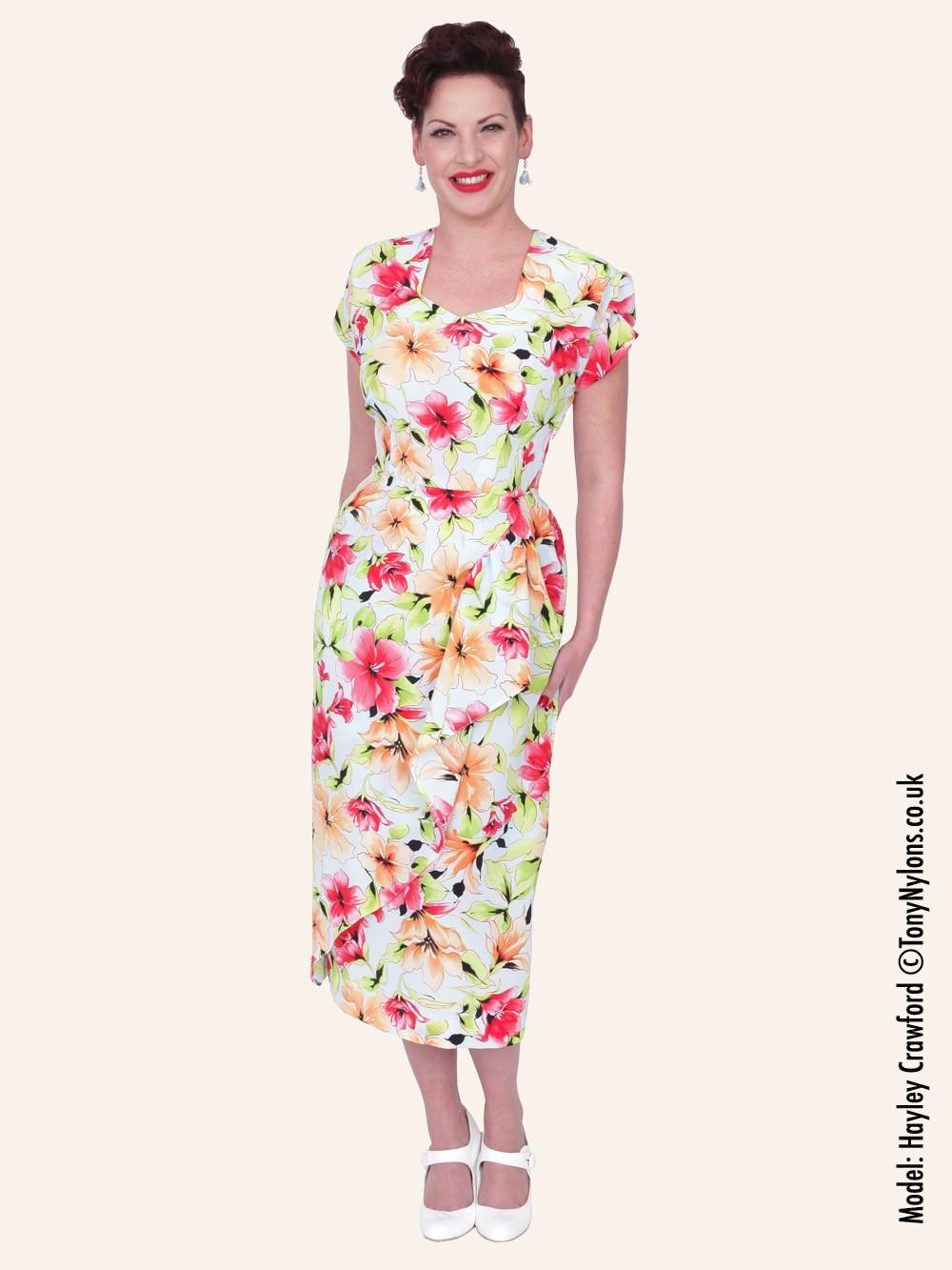 1940s dress garden party from vivien of holloway