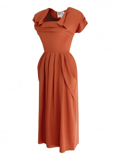 1940s Dress Lana Bronze