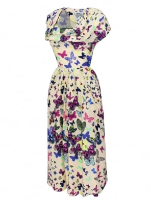 1940s Dress Lana Butterfly