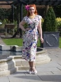 1940s Dress Lana Butterfly