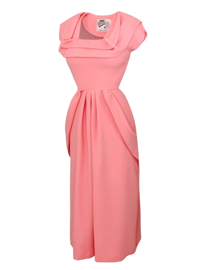 1940s Dress Lana Flamingo