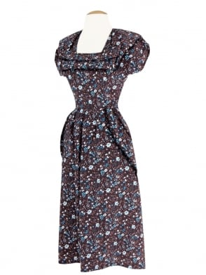 1940s Dress Lana Forget Me Not