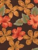 1940s Dress Lana Golden Hibiscus