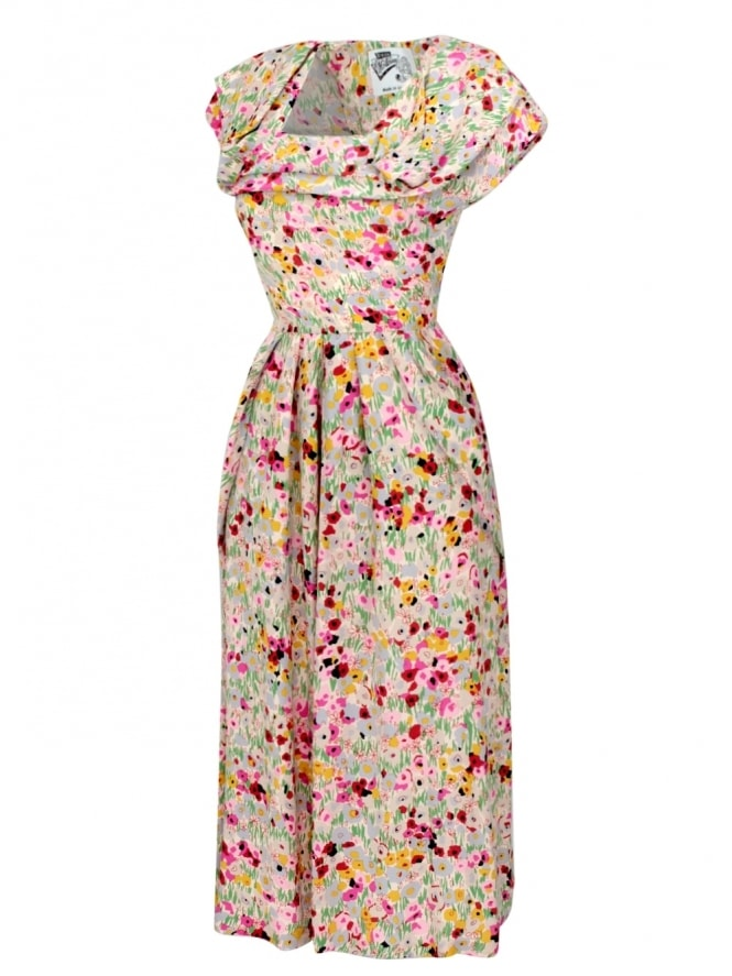 50s-1950s-1940s-40s-Vivien-of-Holloway-Best-Vintage-Style-Reproduction-1940s-Lana-Dress-Meadow-Pink-Grey-Rockabilly-Pinup-Pinupgirl-vintage-vintagestyle-Rocker-Jive