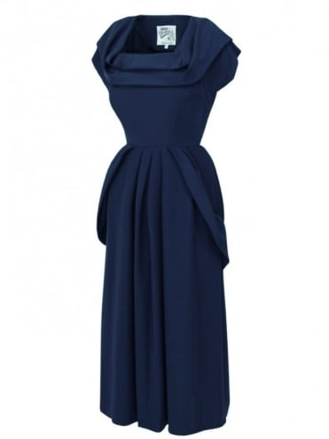 1940s Dress Lana Midnight