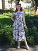 1940s Dress Lana Pineapple Brown