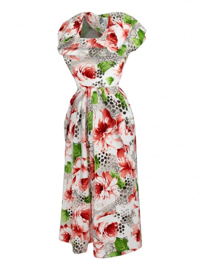 1940s Dress Lana Poppy Red