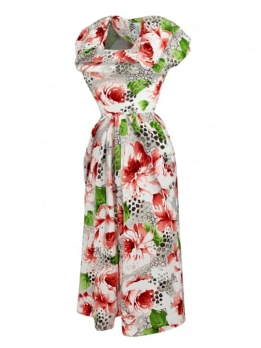 1940s Dress Lana Poppy Red