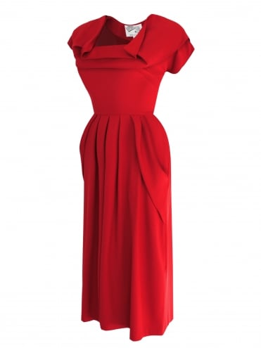 1940s Dress Lana Red
