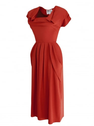 1940s Dress Lana Rust