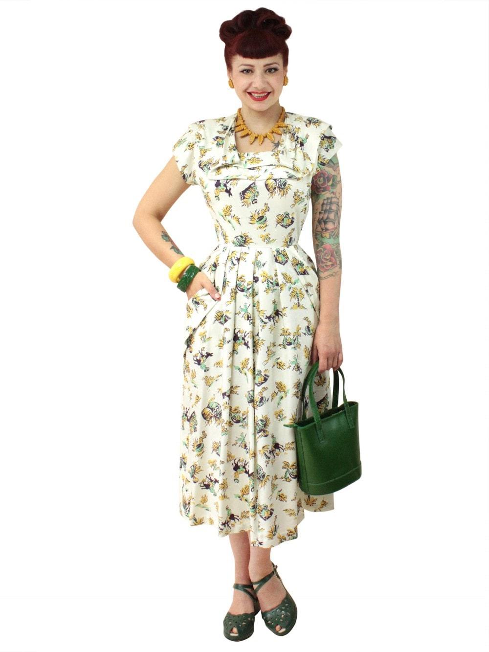 8c54fb13737 1940s Dress Lana Siesta