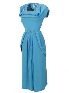 1940s Dress Lana Topaz
