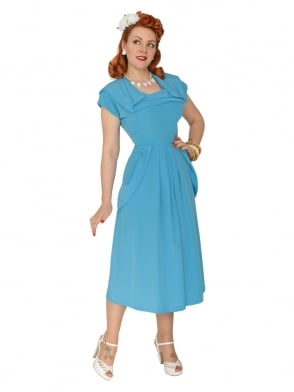 1940s Dress Lana Topaz