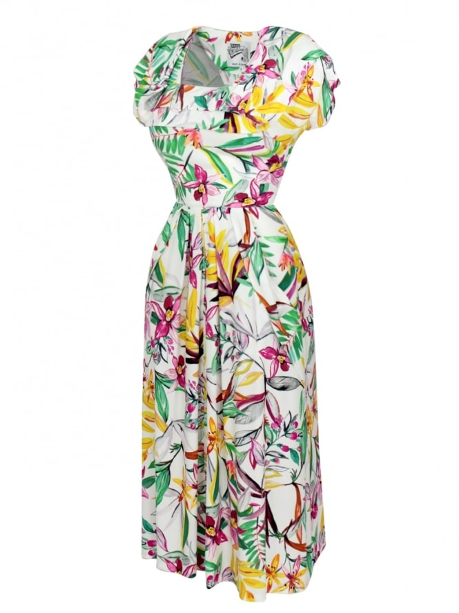 1940s Dress Lana Tropical
