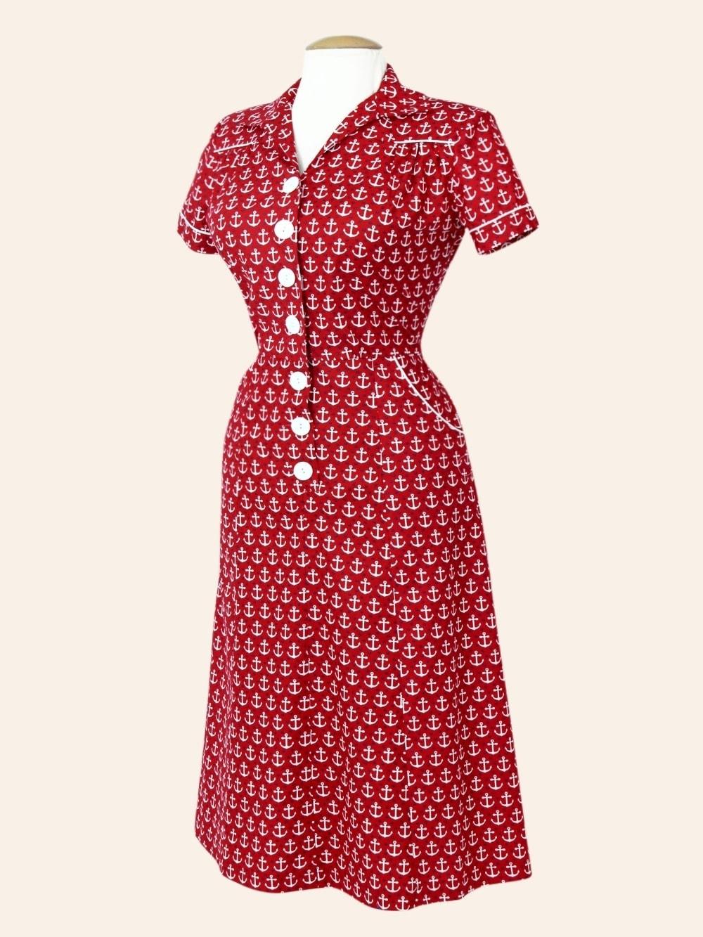 Vintage Red Tea Dress