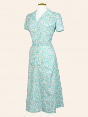1940s Style Tea Dress Floral Daisy