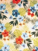1940s Style Tea Dress Hibiscus Blue/Orange