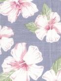 1940s Style Tea Dress Large Hibiscus Blue