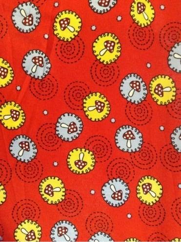 1940s Style Tea Dress Mushroom Red