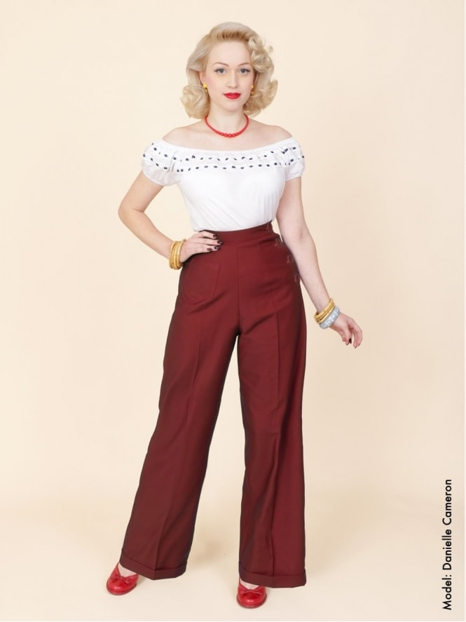 40s-1940s-Swing-Trousers-Claret-Vivien-of-Holloway-swing-pinup-rockabilly-1950s-40s