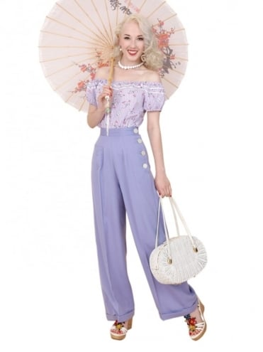 1940s Swing Trousers Lilac