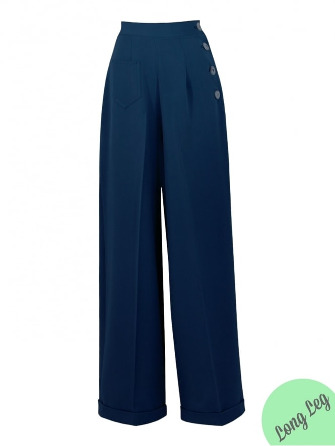 40s-1940s-Vivien-of-Holloway-Best-Vintage-Reproduction-Swing-Trousers-Midnight-Soft-Rockabilly-Swing-Pinup