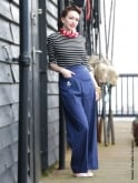 1940s Swing Trousers Navy Anchor
