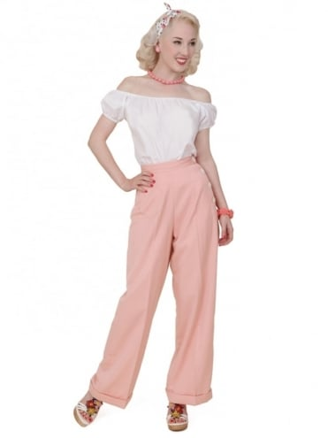 1940s Swing Trousers Pink Soft