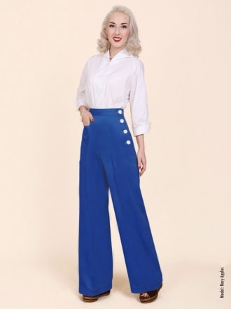 40s-1940s-Swing-Trousers-Royal-Blue-Drill-Vivien-of-Holloway-swing-pinup-rockabilly