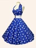1950s Halterneck Anchors Aweigh Dress