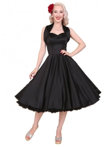 50s-1950s-Vivien-of-Holloway-Best-Vintage-Reproduction-Halterneck-Circle-Dress-Black-Duchess-Swing-Rockabilly-Pinup