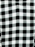 1950s Halterneck Black Gingham Sateen Dress