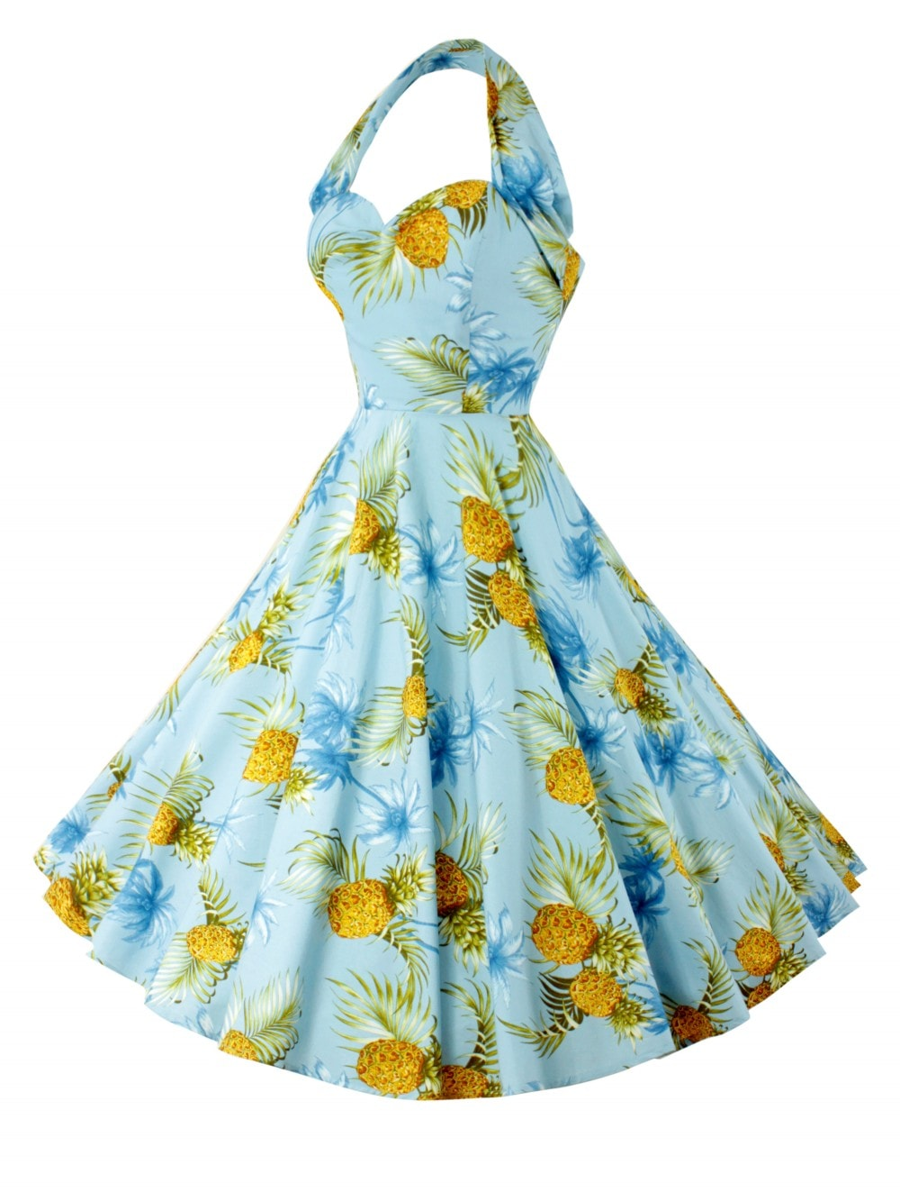 8f938b0129327 1950s Halterneck Blue Hawaii Dress From Vivien Of Holloway