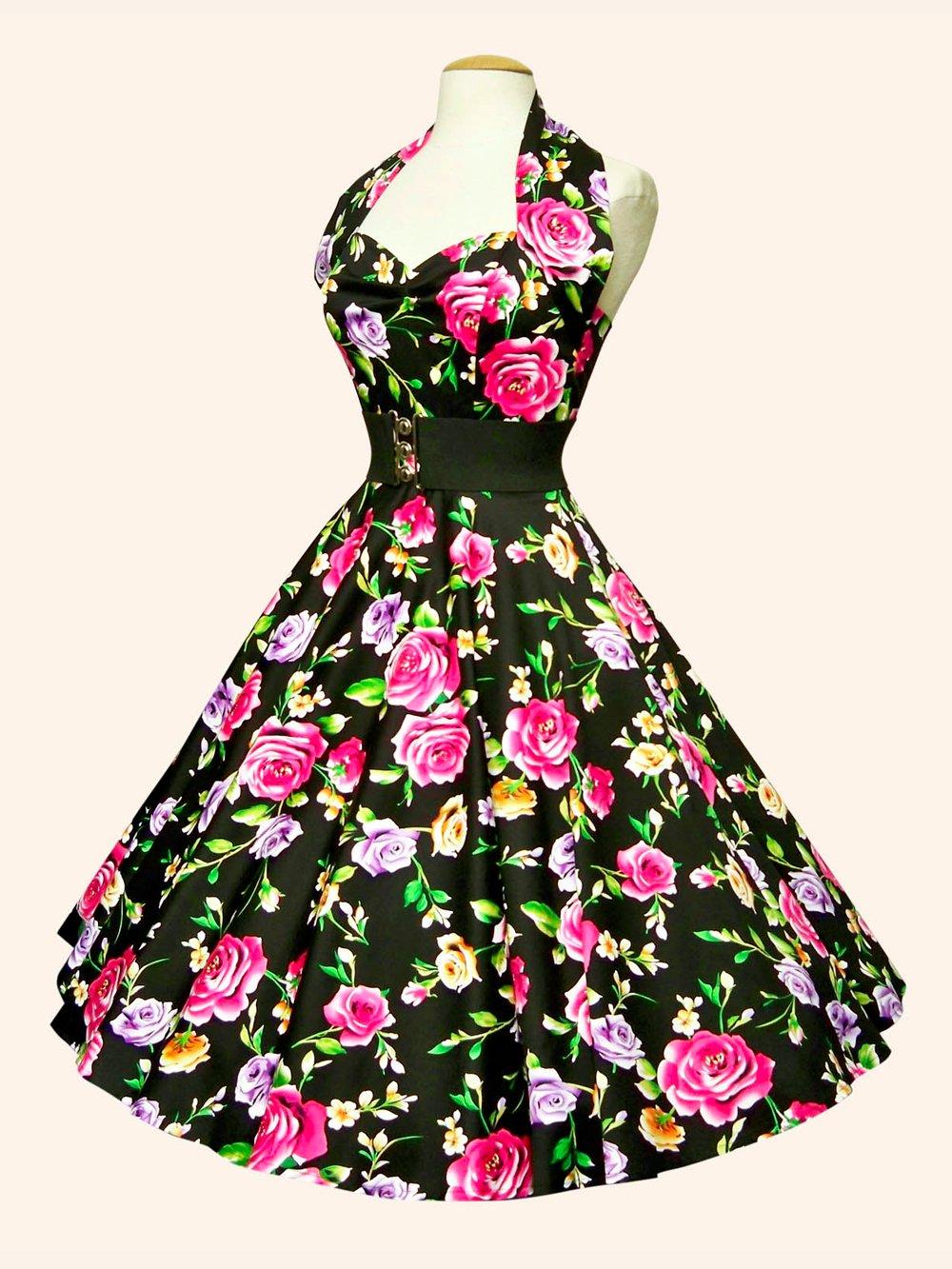 1950s Halterneck Floral Dresses From Vivien Of Holloway