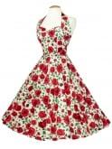 1950s Halterneck Jubillee Rose Dress