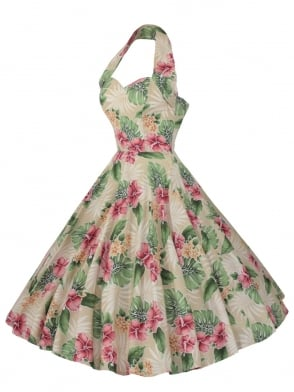 1950s Halterneck Mai Tai Dress