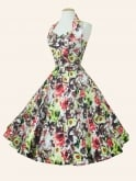 1950s Halterneck Mexicali Rose Dress