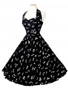 1950s Halterneck Music Notes Dress